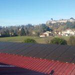 Une centrale photovoltaïque à Pérouges